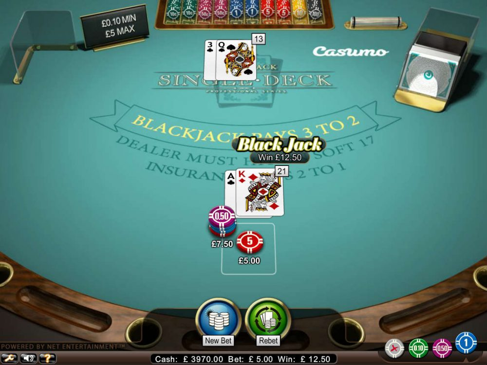 2 deck blackjack casinos