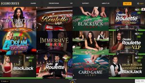 Casino Cruise Live Dealer Games
