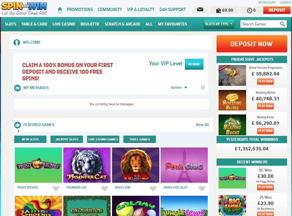 Spin and Win Review - Casino Circle