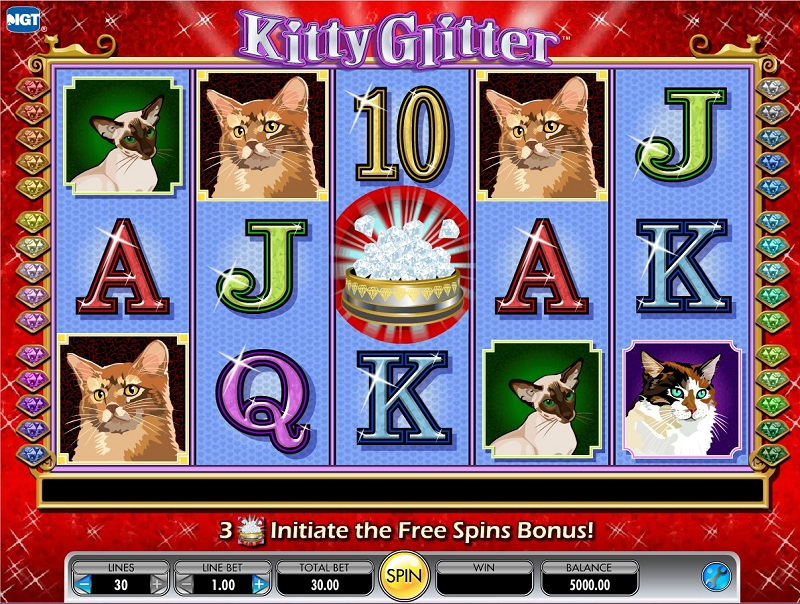 Kitty glitter slot review