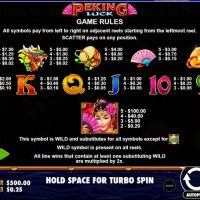 Peking Luck game review