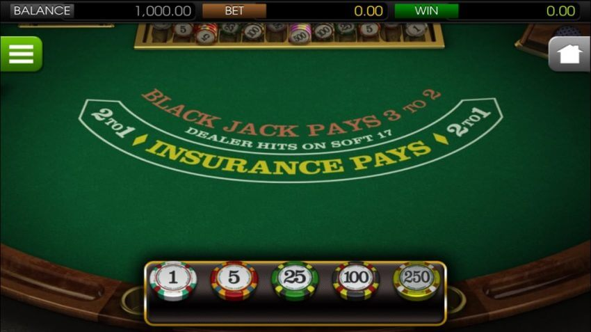 blackjack mobile casino game